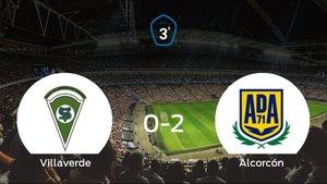 El Alcorcón B se lleva tres puntos tras vencer 0-2 al Villaverde