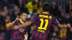 Alexis y Neymar mantienen una relación excelente desde que jugaron en el Barça