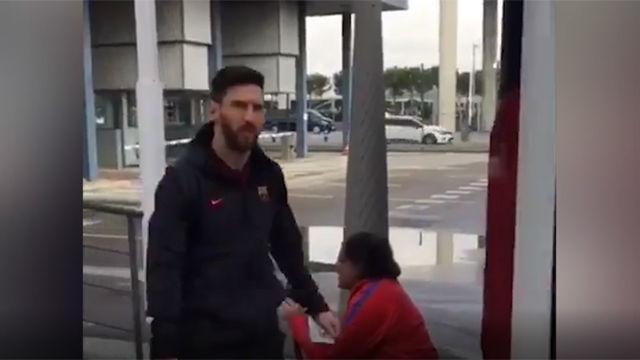El club ha compartido las imágenes de la salida del equipo hacia Roma