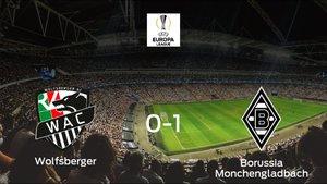 El Borussia Monchengladbach se impone al Wolfsberger AC y consigue los tres puntos (0-1)
