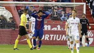 Carles Aleñá se lamenta de una ocasión fallada