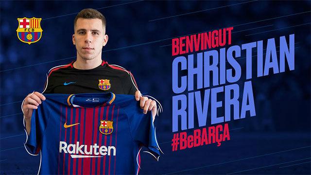 Christian Rivera, nuevo jugador del Barça B
