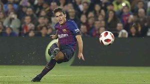 Denis Suárez firmó un doblete la noche del miércoles en el Camp Nou ante la Cultural Leonesa en Copa