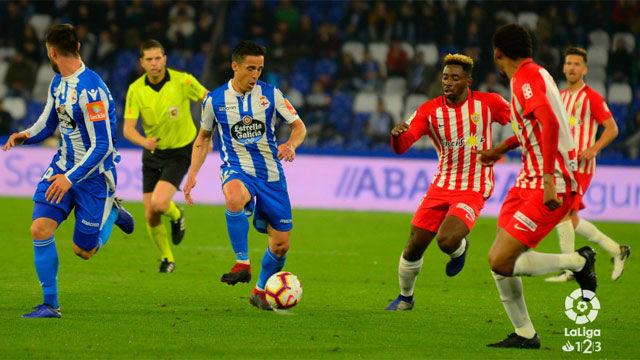 Deportivo y Almería no pasaron del empate a cero