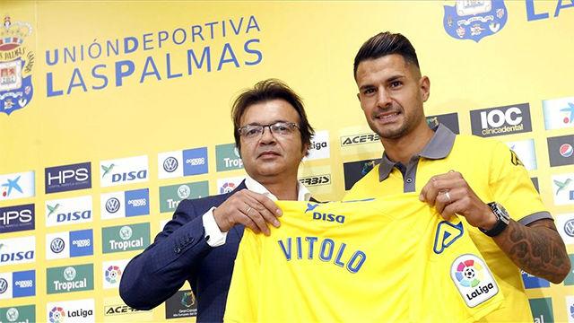 El día que Vitolo se presentó como nuevo jugador de la UD Las Palmas