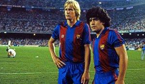 Diego Armando Maradona maravilló al Camp Nou con su magia entre 1982 y 1984