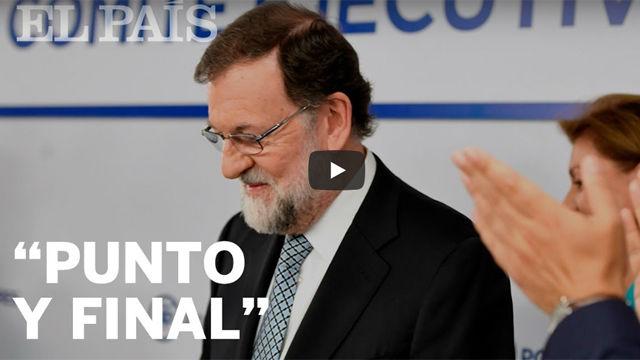 El discurso de la dimisión de Mariano Rajoy como líder del PP