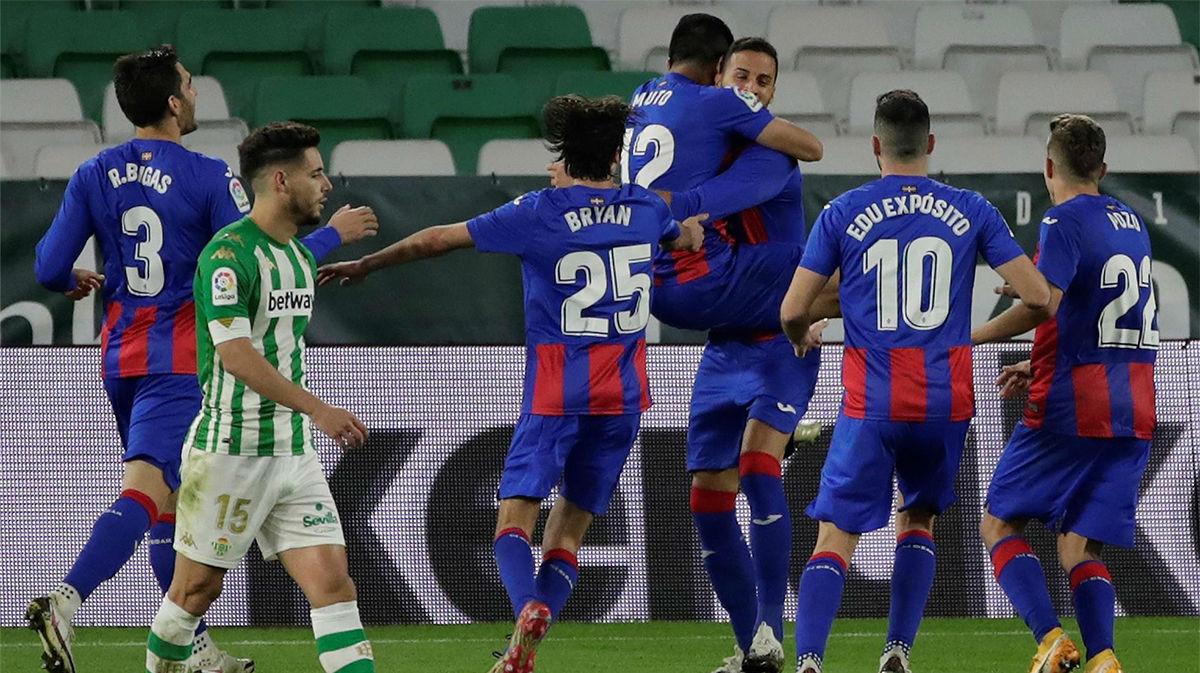 El Eibar se llevó la victoria del Villamarín