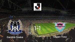 El Gamba Osaka y el Sagan Tosu reparten los puntos tras empatar a uno