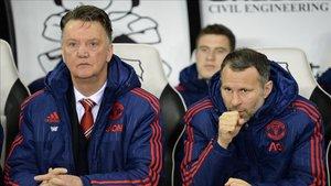 Giggs y Van Gaal en su etapa en el United