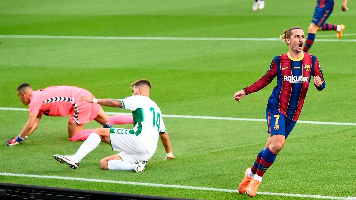 Griezmann dio la victoria al Barça en el Gamper