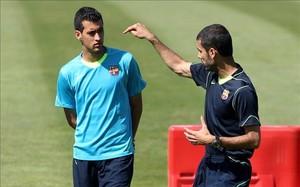 Guardiola y Busquets se conocieron en el Barça B