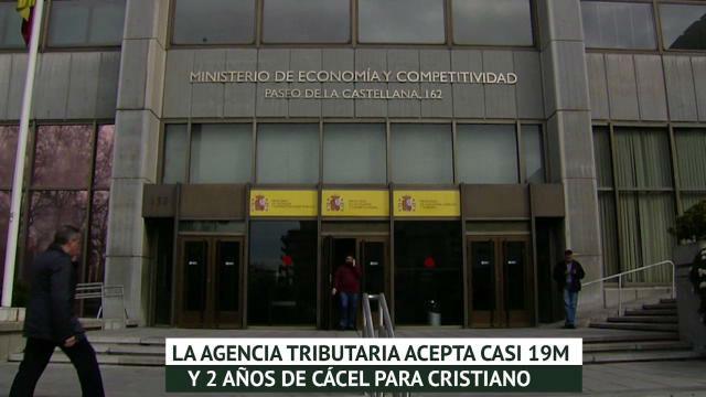 Hacienda acepta casi 19 millones de euros y 2 años de cárcel para Cristiano