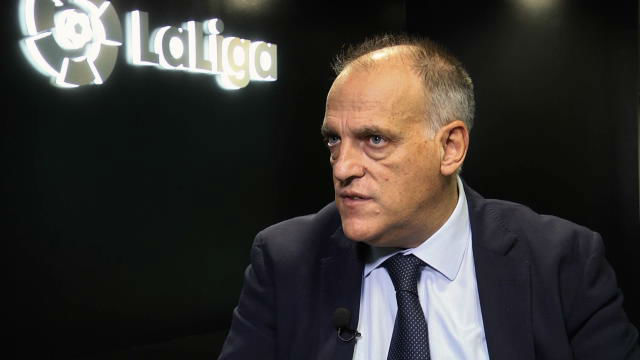 Javier Tebas: Si no se controla al PSG y el City, el fútbol corre peligro