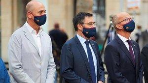 Jordi Moix, Josep Maria Bartomeu y Jordi Cardoner