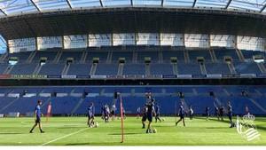 Los jugadores de la Real Sociedad se han entrenado en Anoeta
