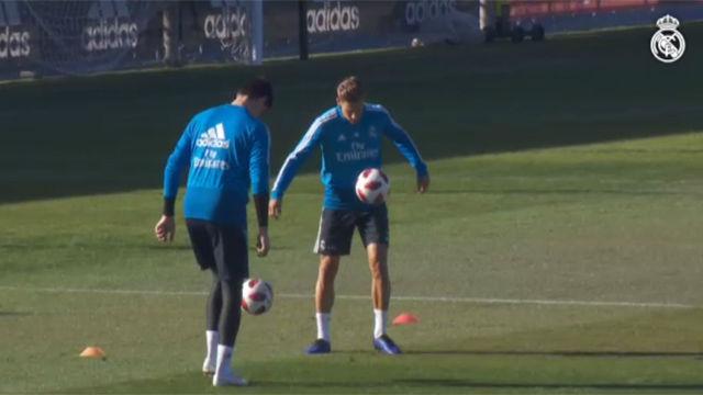 El Madrid comenzó a preparar el partido de Copa
