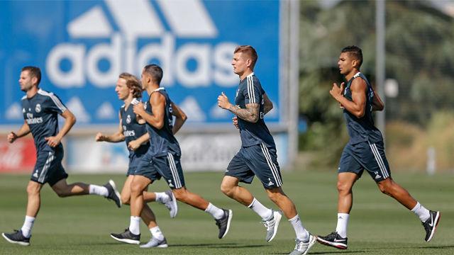 El Madrid vuelve al trabajo después de la deblacle de Sevilla