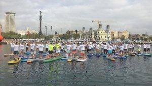 Más de cien participantes en el Festival de Paddle Surf del Saló Nàutic que organiza Fira de Barcelona