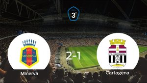 El Minerva vence 2-1 en su estadio frente al Cartagena B