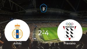 El Praviano suma tres puntos a su casillero frente al Real Avilés (2-4)