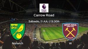 Previa del encuentro: Norwich City - West Ham