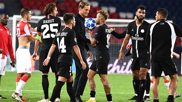El PSG se divierte ante el Estrella Roja