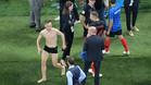 Rakitic, durante la celebración tras el partido