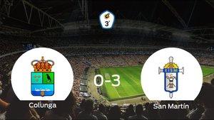 Tres puntos para el casillero del San Martín tras golear del Colunga (0-3)