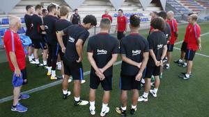 Valverde les dio las primeras instrucciones de lo que quiere de ellos