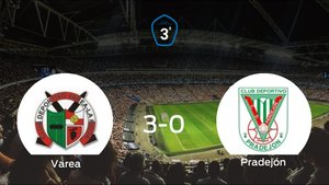 El Varease hace con los tres puntos tras golear al Pradejón en casa (3-0)