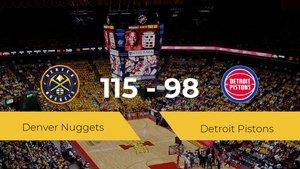 Victoria de Denver Nuggets en el Pepsi Center ante Detroit Pistons por 115-98