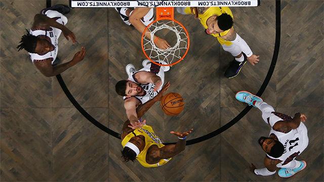 Victoria de los Lakers en casa de Brooklyn Nets
