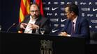 Gómez Ponti y Josep Vives en la rueda de prensa de esta noche