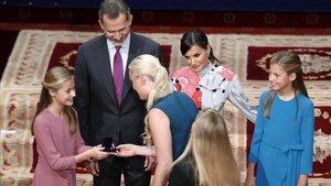 Vonn durante la recepción de los Premios Princesa de Asturias