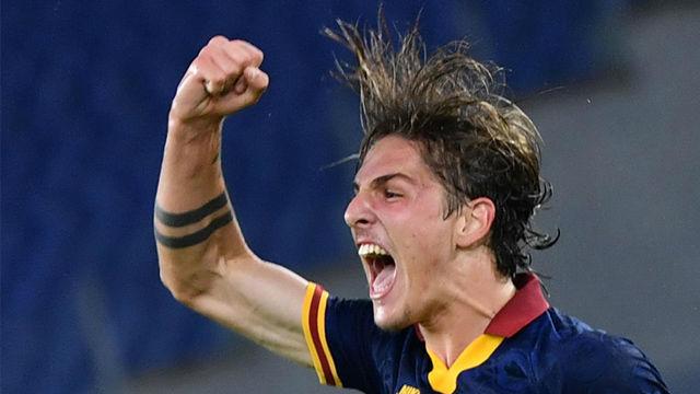Zaniolo marcó el tercer tanto para la Roma