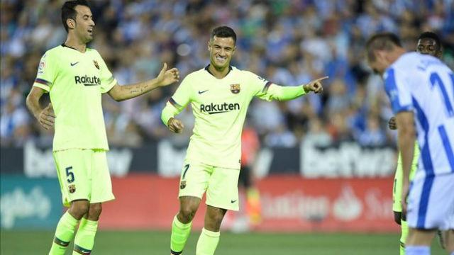 El 1x1 del Barça ante el Leganés al descanso