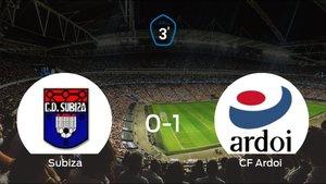 El CF Ardoi vence 0-1 al Subiza y se lleva los tres puntos