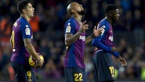 Arturo Vidal y Dembélé están on fire entre la afición