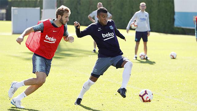 El Barça ha entrenado sin Leo Messi