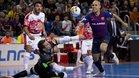 Barça Lassa y ElPozo empataron en la primera vuelta en el Palau (3-3)