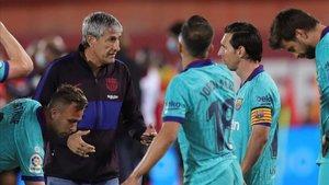 El FC Barcelona apuró su salida al terreno de juego en Mallorca