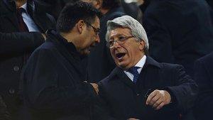 Bartomeu y Cerezo, en el Camp Nou