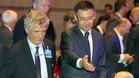 Bartomeu, en un sorteo de la UEFA con Villar