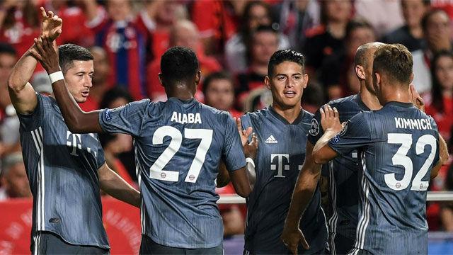 El Bayern se pasea en Lisboa
