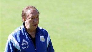 Bilardo en Bello Horizonte durante la Copa del Mundo de 2014 cuando era Director General de Selecciones Nacionales