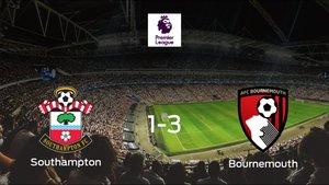 El Bournemouth vence 1-3 al Southampton y se lleva los tres puntos