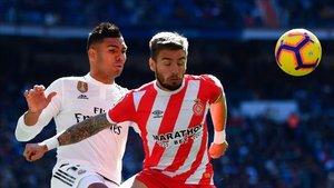 Casemiro marcó el 1-0 de cabeza, rematando un centro de Kroos