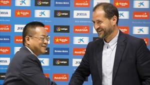 Chen Yansheng y Óscar Perarnau perfilan el nuevo Espanyol