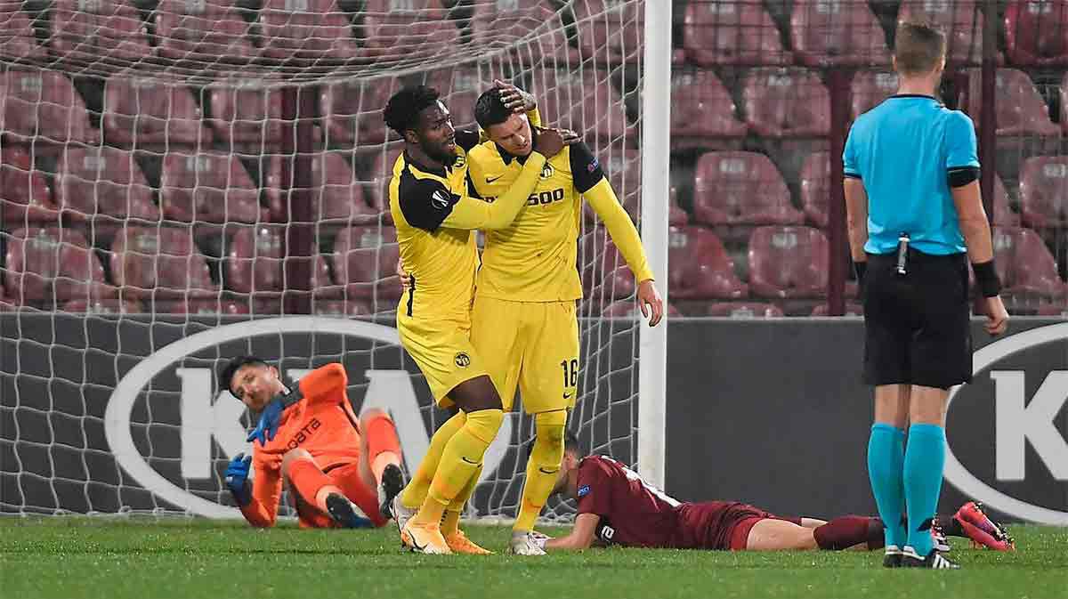 Christian Fassnacht hizo el empate ante el Cluj